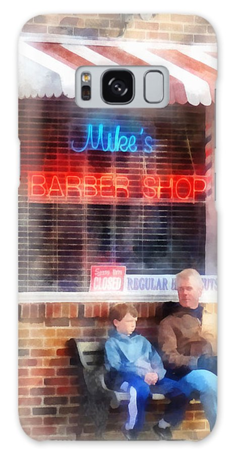 Barber Galaxy S8 Case featuring the photograph Barber - Neighborhood Barber Shop by Susan Savad