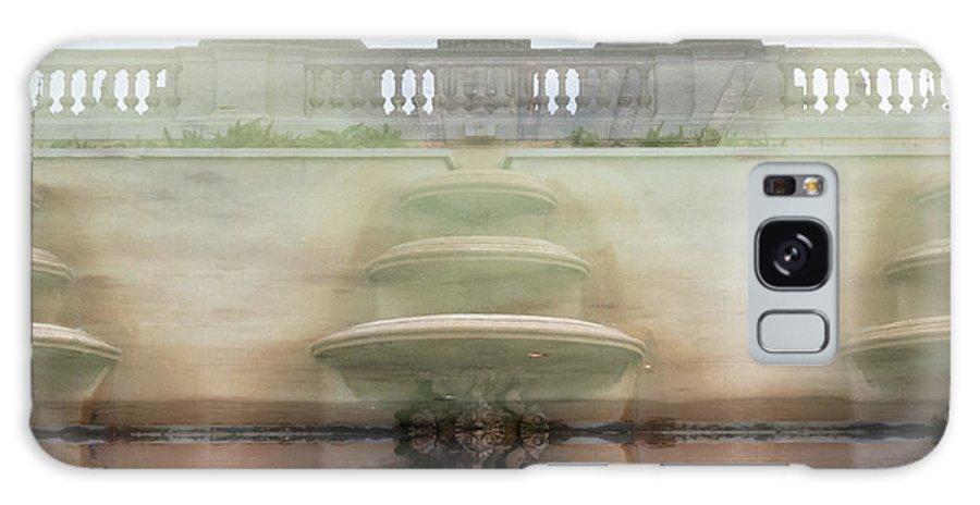 Barcelona Reflection Inverse Building Fountain Galaxy S8 Case featuring the photograph Barcelona Fountain by Pedro Nunez