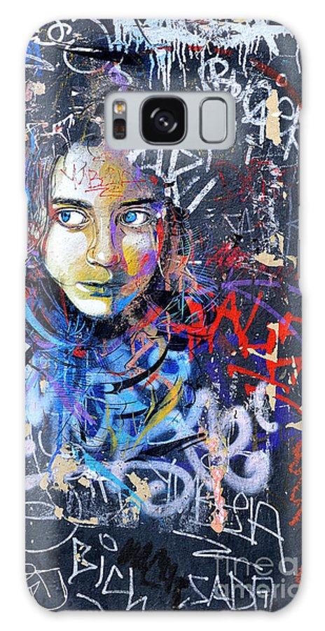 Street Art Galaxy S8 Case featuring the photograph Barcelona Graffiti 1 by Phil Robinson