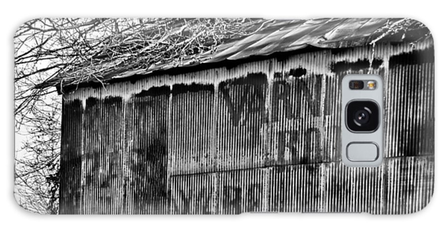 Barn Ghost Sign In B/w Galaxy S8 Case featuring the photograph Barn Ghost Sign In Bw by Greg Jackson