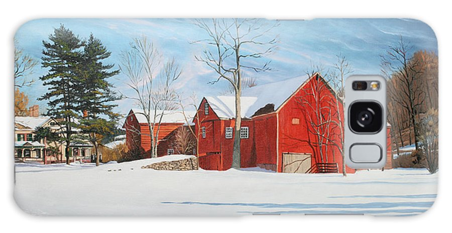 Barn Galaxy S8 Case featuring the painting Barns At Bezalel Gables by Kenneth Young