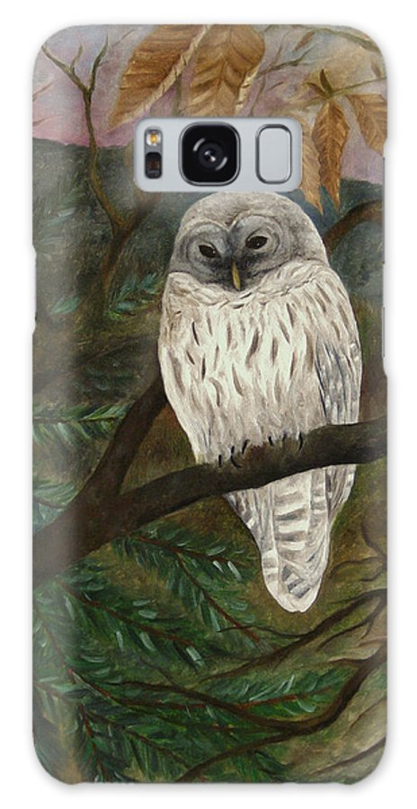 Barred Owl Galaxy S8 Case featuring the painting Barred Owl by FT McKinstry