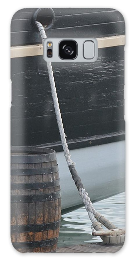Ship Galaxy S8 Case featuring the photograph Barrel And Ship by Roxanne Janson