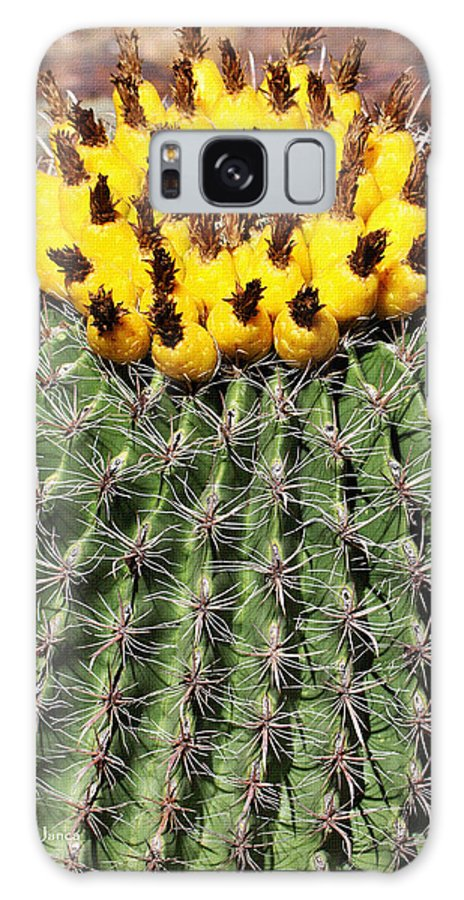 Barrel Cactus With Yellow Fruit Galaxy S8 Case featuring the photograph Barrel Cactus With Yellow Fruit by Tom Janca