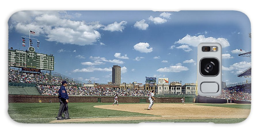 Wrigley Field Galaxy S8 Case featuring the photograph Baseball At Wrigley Field In The 1990s by Mountain Dreams