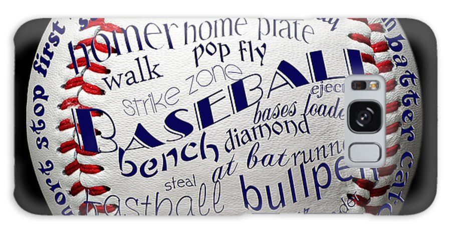 Baseball Galaxy S8 Case featuring the digital art Baseball Terms Typography 1 by Andee Design