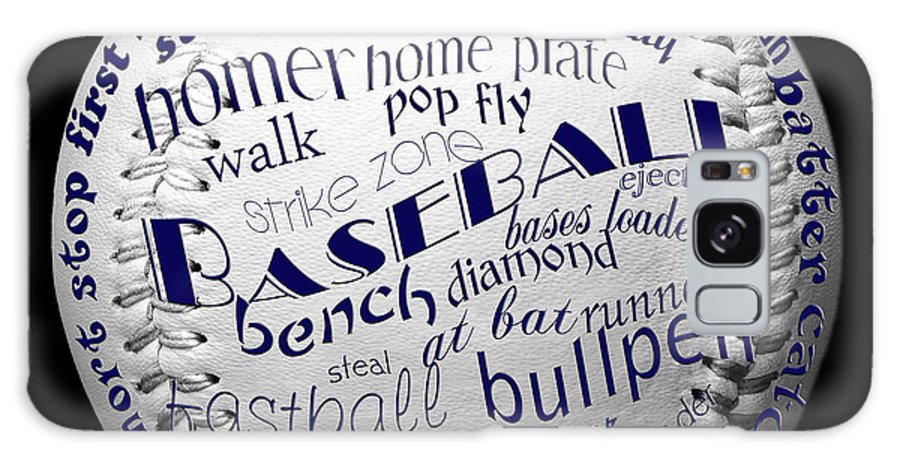 Baseball Galaxy S8 Case featuring the digital art Baseball Terms Typography 2 by Andee Design