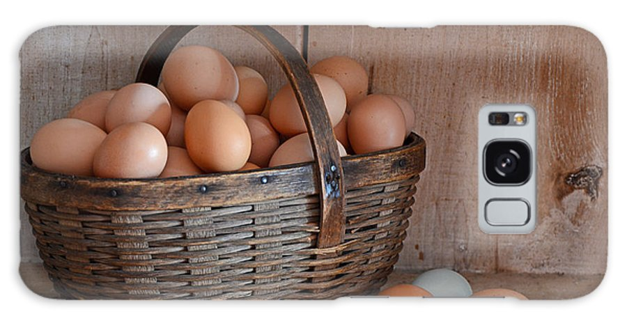 Still Life Galaxy S8 Case featuring the photograph Basket Full Of Eggs by Mary Carol Story