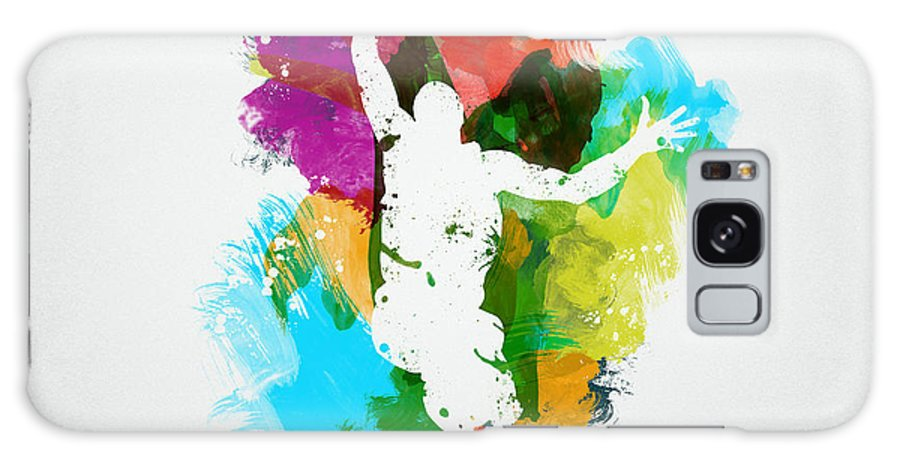 Abstract Galaxy Case featuring the digital art Basketball Player by Aged Pixel