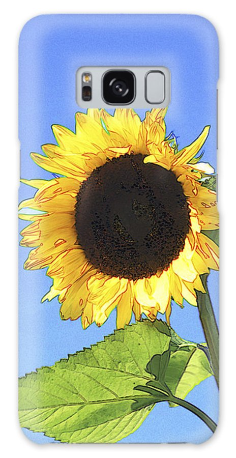 Sunflower Galaxy S8 Case featuring the photograph Basking In The Sunlight by Peter Lloyd