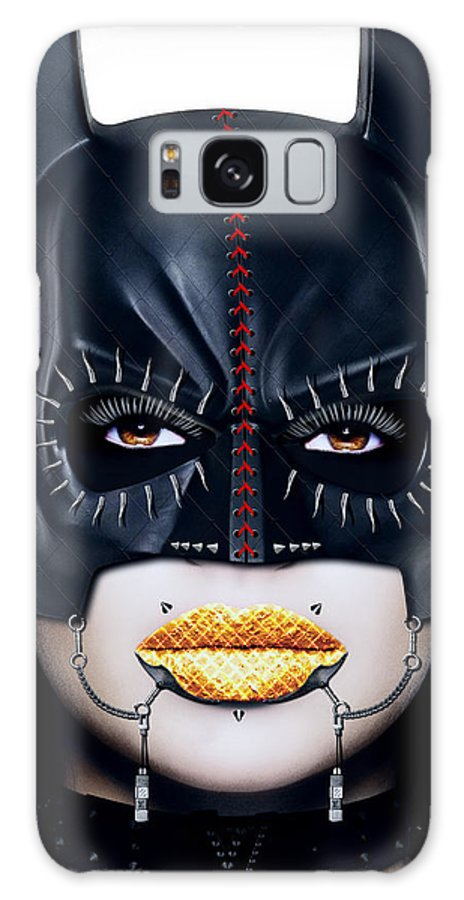 Batman Galaxy S8 Case featuring the digital art Bat Girl by Jan Raphael