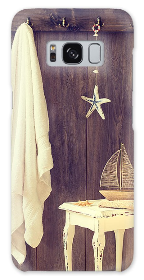 Bathroom Galaxy Case featuring the photograph Bathroom Interior by Amanda Elwell
