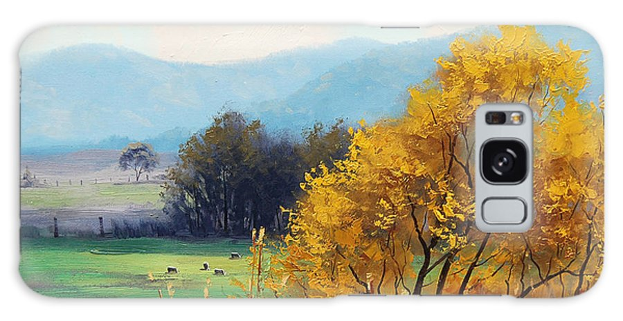 Rural Galaxy S8 Case featuring the painting Bathurst Landscape by Graham Gercken