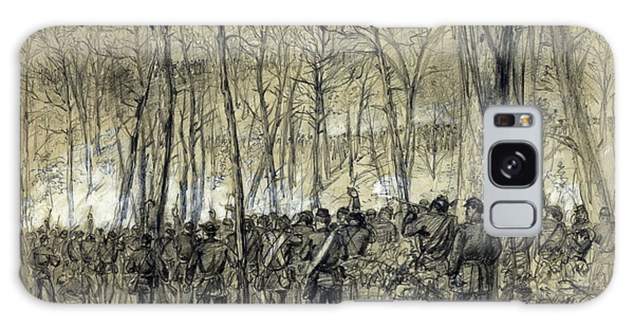 Virginia Galaxy S8 Case featuring the photograph Battle In The Wilderness 1864 - Civil War - Virginia by Daniel Hagerman