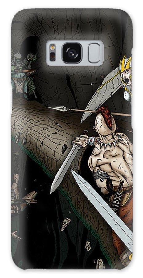 Usherwood Galaxy S8 Case featuring the digital art Battle On The Stone Bridge by James Kramer