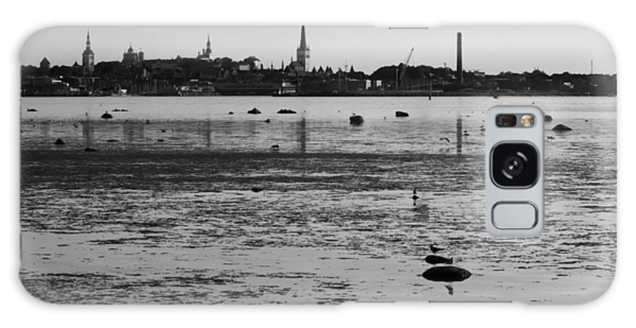 Black And White Galaxy S8 Case featuring the photograph Bay Of Tallinn by Voldemar Vaglaots