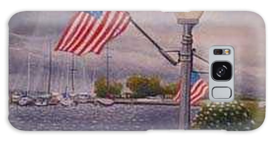 Rick Huotari Galaxy S8 Case featuring the painting Bayfield On The 4th by Rick Huotari