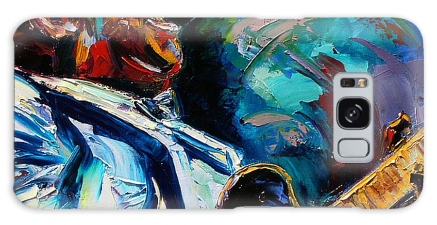 Musicians Galaxy S8 Case featuring the painting Bb King by Debra Hurd
