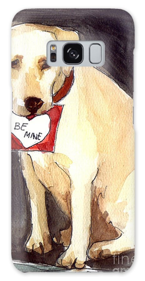 A Heart Felt Message! Galaxy S8 Case featuring the painting Be Mine by Molly Poole