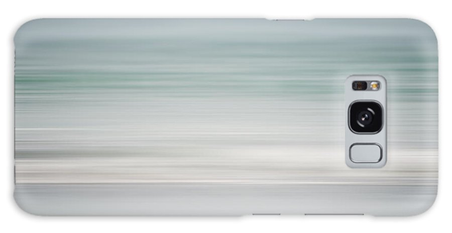 Beach Galaxy S8 Case featuring the photograph Beach Abstract In Shades Of Pale Blue And Grey by Lisa Russo