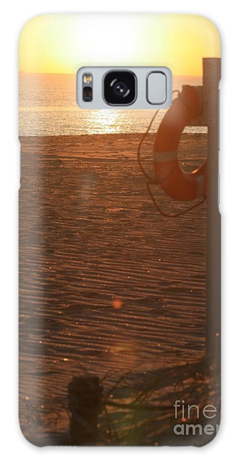 Beach Galaxy Case featuring the photograph Beach At Sunset by Nadine Rippelmeyer