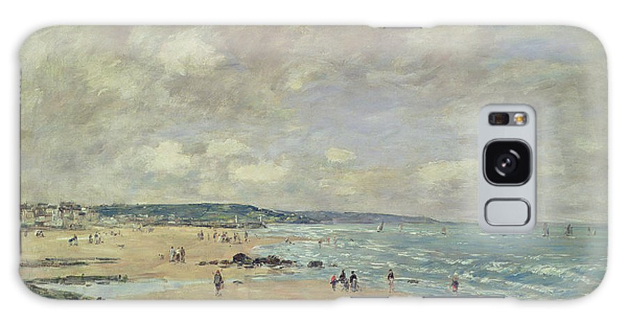 Impressionist Galaxy S8 Case featuring the painting Beach At Trouville by Eugene Louis Boudin