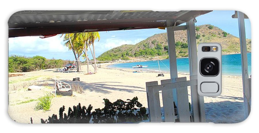 St Kitts Galaxy Case featuring the photograph Beach Bar In January by Ian MacDonald