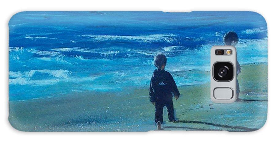 Exterior Artwork Galaxy Case featuring the mixed media Beach Bums by Darla Joy Johnson