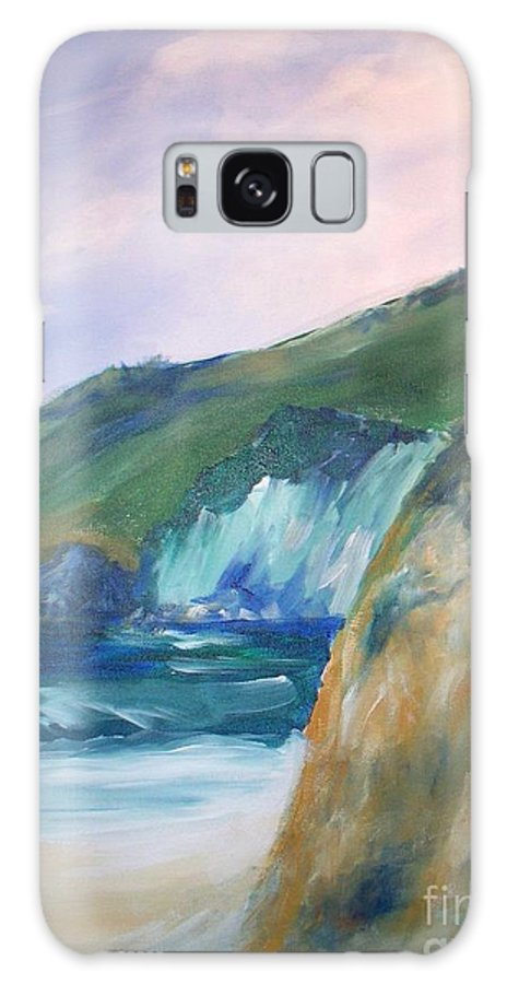 California Coast Galaxy Case featuring the painting Beach California by Eric Schiabor