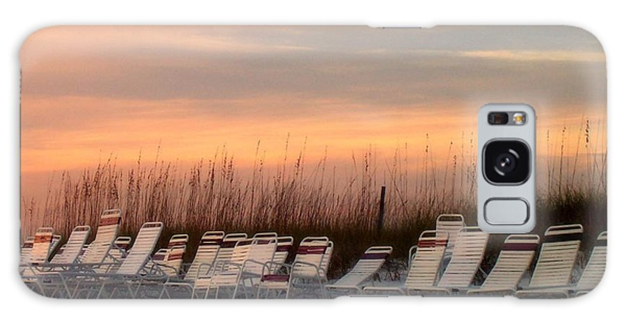 Siesta Key Galaxy S8 Case featuring the photograph Beach Chairs At Dusk by Catie Canetti