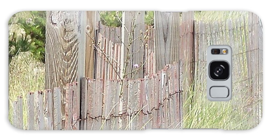 Beach Galaxy S8 Case featuring the photograph Beach Fence by Joan Gal-Peck
