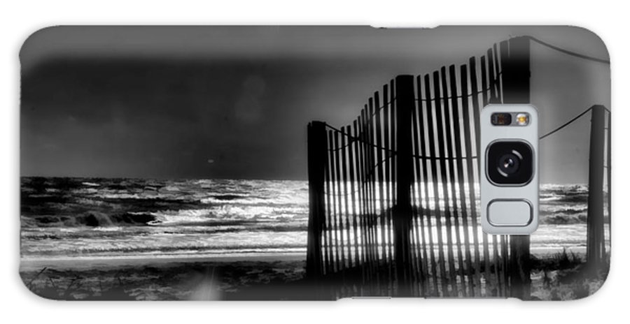 Beach Galaxy S8 Case featuring the photograph Beach Fence by Michael Schwartzberg