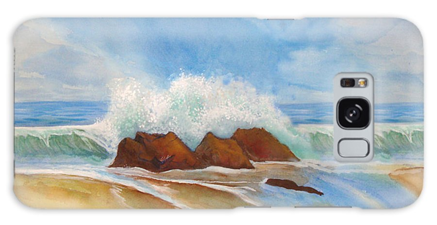 Rick Huotari Galaxy Case featuring the painting Beach Front by Rick Huotari