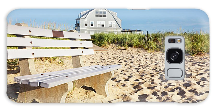 Bench Galaxy S8 Case featuring the photograph Beach House Sunrise by Jo Ann Snover