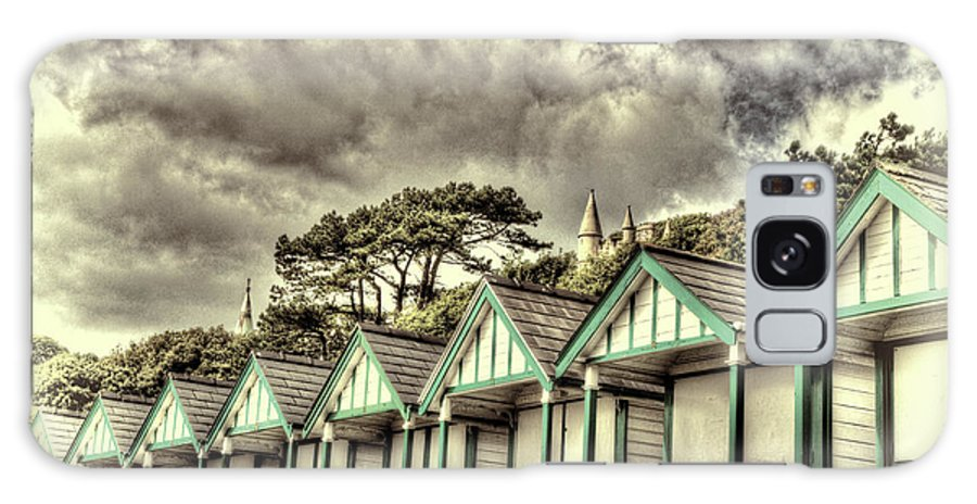 Langland Bay Beach Huts Galaxy S8 Case featuring the photograph Beach Huts 3 by Steve Purnell
