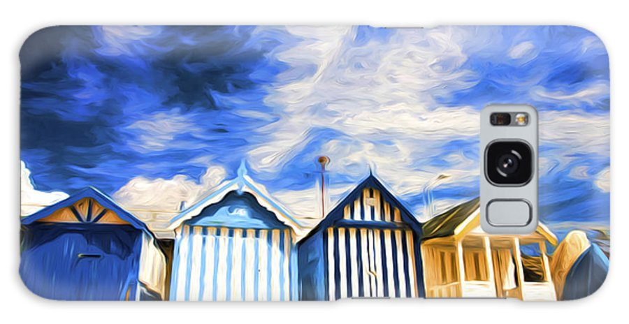 Beach Huts Galaxy Case featuring the photograph Beach huts at Southend by Sheila Smart Fine Art Photography