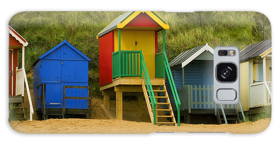 Beach Huts Galaxy S8 Case featuring the photograph Beach Huts At Wells Next To Sea 1 by Bill Simpson