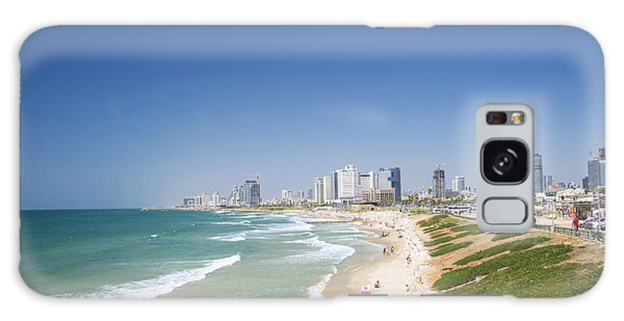 Architecture Galaxy S8 Case featuring the photograph Beach In Tel Aviv Israel by Jacek Malipan