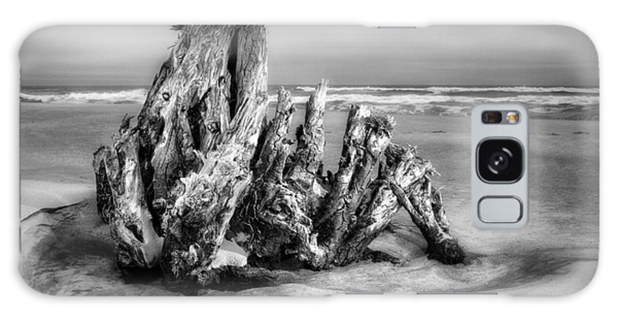 Outer Banks Galaxy S8 Case featuring the photograph Beach Monster 2 - Outer Banks Bw by Dan Carmichael