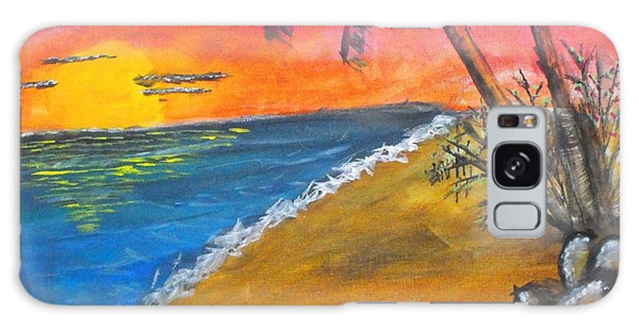 Beach Galaxy S8 Case featuring the painting Beach Scene by Catherine Ratliff