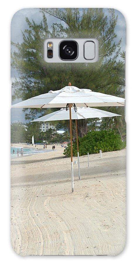 Caribbean Galaxy S8 Case featuring the photograph Beach Umbrellas by Caroline Stella