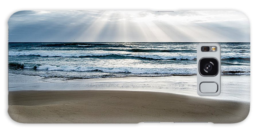 Beach Galaxy S8 Case featuring the photograph Beach With Sunrays by Heather Provan