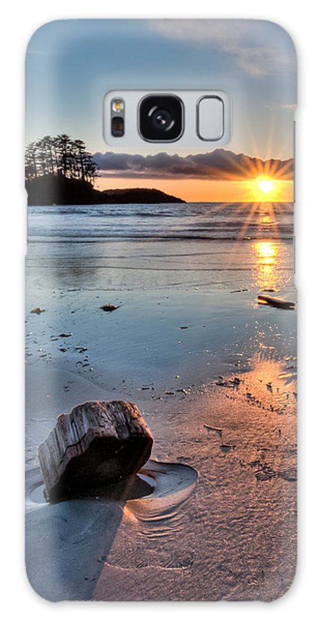 Beautiful Galaxy S8 Case featuring the photograph Beach Wood Chunk by James Wheeler