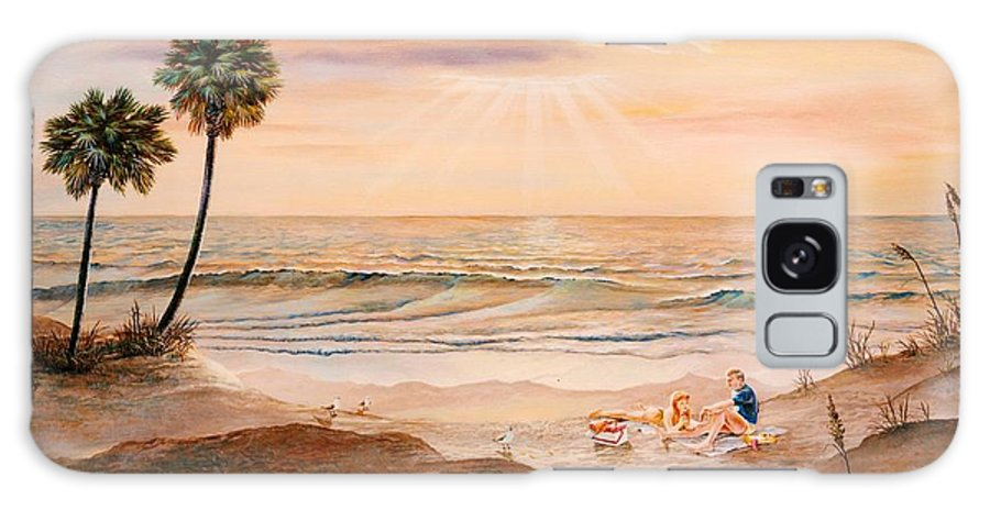 Beach Galaxy S8 Case featuring the painting Beachcombers by Duane R Probus