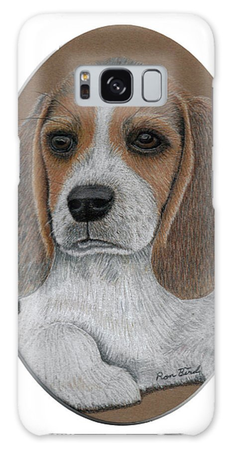 Beagle Galaxy S8 Case featuring the drawing Beagle by Ron Bird