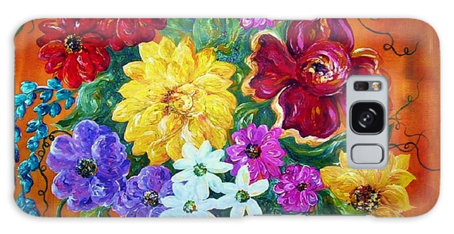 Flower Galaxy S8 Case featuring the painting Beauties In Bloom by Eloise Schneider Mote