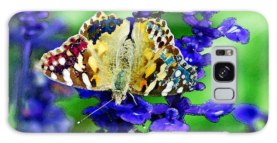 Augusta Stylianou Galaxy S8 Case featuring the digital art Beautiful Butterfly On A Flower by Augusta Stylianou