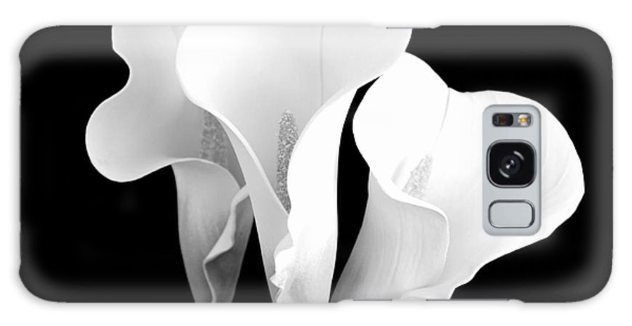 Calla Lilies Galaxy S8 Case featuring the photograph Beautiful Calla Lilies In Black And White by Mary Deal