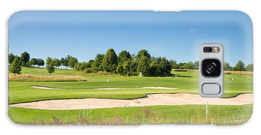 Golf Course Galaxy S8 Case featuring the photograph Beautiful Green Golf Course And Blue Sky by Matthias Hauser