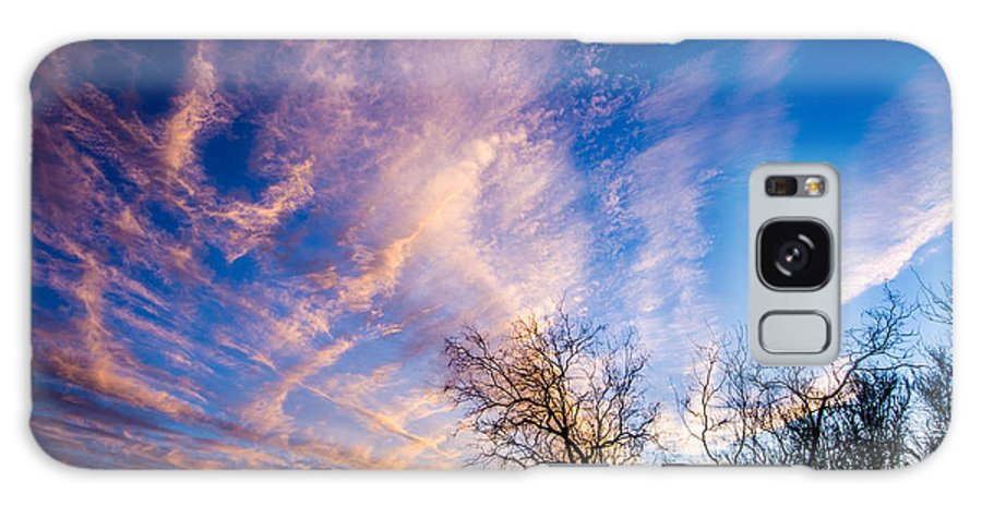 Tucson Galaxy S8 Case featuring the photograph Beautiful Morning Sunrise Clouds Across The Sky by Michael Moriarty